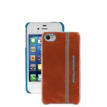 купить Чехол для iPhone 4 Piquadro Blue Square Коричневый AC2712B2_AR3