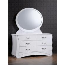 """купить Будуарный стол + зеркало """"Эвита"""" (белый глянец)"""