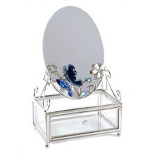 купить Шкатулка стеклянная с зеркалом