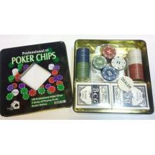 купить Набор для игры в покер в оловянном кейсе (100 фишек) 2 колоды (TC04101N)