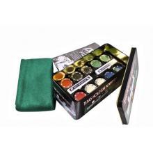 купить Набор для игры в покер в оловянном кейсе (200 фишек две колоды сукно) (TC04200D)