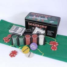купить Набор для игры в покер в оловянном кейсе (200 фишек две колоды сукно) (TC04201C)