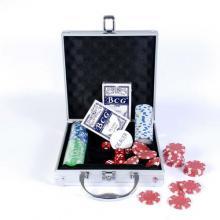 купить Набор для игры в покер в алюминиевом кейсе (100 фишек две колоды) (CG11100)