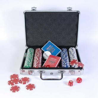 купить Набор для игры в покер в алюминиевом кейсе (200 фишек две колоды) (CG11200)