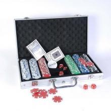 купить Набор для игры в покер в алюминиевом кейсе (300 фишек две колоды) (CG11300)