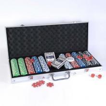 купить Набор для игры в покер в алюминиевом кейсе (500 фишек две колоды) (CG11500)