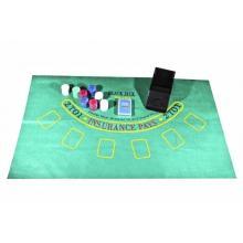 купить Набор для игры в покер в картонной упаковке (200 фишек 1 колода сукно шуз) (BJ2200)