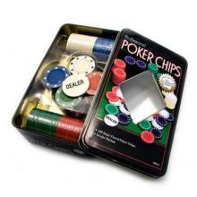 купить Набор для игры в покер в оловянном кейсе (100 фишек) (TC04100)