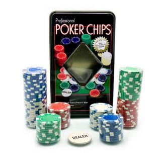 купить Набор для игры в покер в оловянном кейсе (100 фишек) (TC11100)