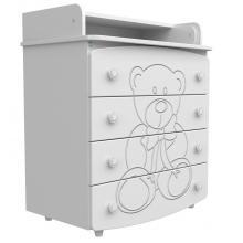 купить Верес комод-пеленатор (ДСП+МДФ) белый (медвежонок)