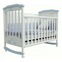 купить Верес кроватка детская Соня ЛД 2 бело-голубой аппликация