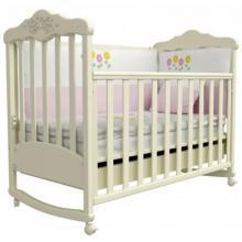 купить Верес кроватка детская Соня ЛД 11 слоновая кость (резьба медвежата)