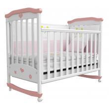 купить Верес кроватка детская Соня ЛД 2 бело-розовый аппликация