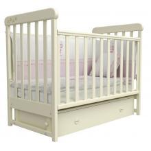 купить Верес кроватка детская Соня ЛД 12 ящик+маятник слоновая кость лапки