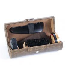 купить Набор для ухода за обувью Nova в коричневом цилиндрическом футляре ( SY-003PWN)