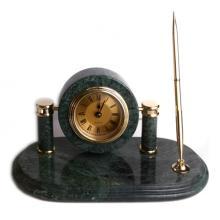 купить Набор настольный мрамор (часы + ручка) (ST_11089)