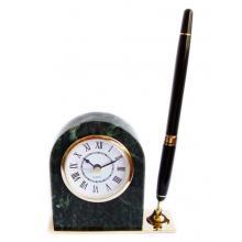 купить Набор настольный мрамор (часы + ручка чёрная) (ST_11276)