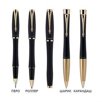 купить Набор Parker Urban Muted Black GT RB BP (ручка роллер + шариковая ручка) - Ручки Parker (Паркер). Интернет-магазин ручек Parker. Купить в Киеве.