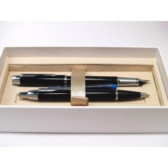 купить Набор Parker IM Black CT FP BP (перьевая ручка + шариковая ручка) - Ручки Parker (Паркер). Интернет-магазин ручек Parker. Купить в Киеве.