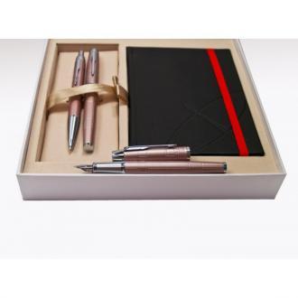 купить Набор Parker IM Premium Metallic Pink FP BP (перьевая ручка + шариковая ручка) - Ручки Parker (Паркер). Интернет-магазин ручек Parker. Купить в Киеве.