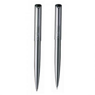 купить Набор Parker Vector Stainless Steel BP PCL (карандаш + шариковая ручка) - Ручки Parker (Паркер). Интернет-магазин ручек Parker. Купить в Киеве.
