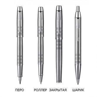 купить Набор Parker IM Premium Shiny Chrome Chiselled 5TH FP (ручка 5TH + перьевая ручка) - Ручки Parker (Паркер). Интернет-магазин ручек Parker. Купить в Киеве.