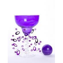 Подсвечник со свечой фиолетовый (DSE1643k)