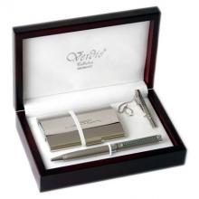 купить Набор Verdie в деревянном футляре (ручка + визитница + зажим для галстука) (VE_9)