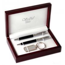 купить Набор Verdie в деревянном футляре (ручка перо + ручка шариковая + брелок silver) (VE_13S)