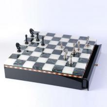 купить Латунные шахматы на мраморной доске (SG1175)