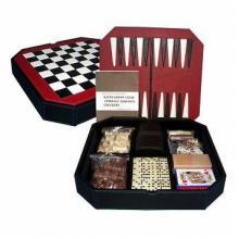 купить Набор 7 игр (шахматы, шашки, нарды, домино, кости, карты, крибидж) (CHT06002)