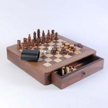 купить Набор: шахматы + нарды, орех (CS129-12)