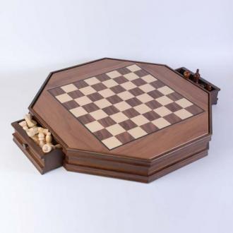 купить Шахматы в деревянной коробке восьмиугольные (CS29)
