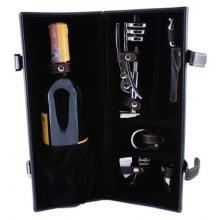 купить Винный набор с отсеком для вина: штопор, термометр, резак, кольцо, винонаполнитель LCB-B01(5PC-08A)
