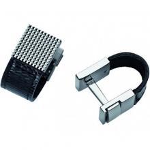 купить Запонки ST Dupont Black Diamond Leather PP+кожа Du5263
