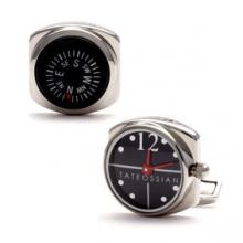 купить Запонки Tateossian Mechanical NAUTILUS Часы+Компас S/S Tt8592bts
