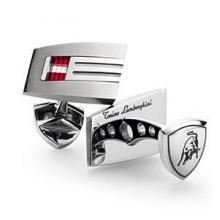 купить Запонки Lamborghini Corsa T+SS вставка гранат+бел.топаз Lm005000e-tcl