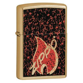 купить Зажигалка Zippo Retro Flame Gold Dust 24193