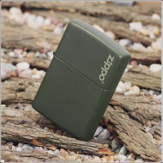 купить Зажигалка Zippo 221 ZL CLASSIC green matte with zippo