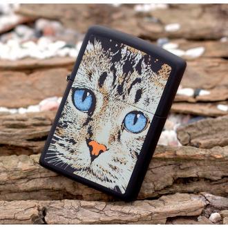 купить Зажигалка Zippo 28040 Blue Eyed Cat