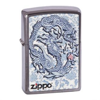 купить Зажигалка Zippo 200.593 Dragon Reg Brush Chrome