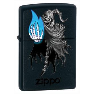 купить Зажигалка Zippo 28033 GHOSTLY FLAME BLACK MATTE