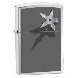 купить Зажигалка Zippo 28030 CORNERED STAR BRUSHED CHROME
