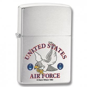 купить Зажигалка 24529 ZIPPO US Air Force Falcon Brushed Chrome