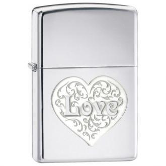 купить Зажигалка Zippo 24459 Double Lustre Love